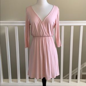 June and Hudson Pink plunge open back dress sz. M